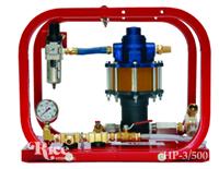 Pneumatic hydro test unit